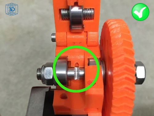 imprimir tpu, alinear hobbed bolt extrusor prusa i3