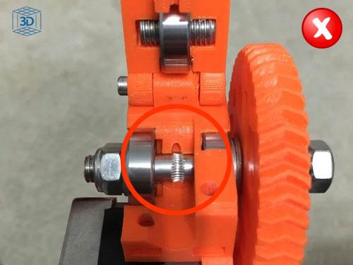 filamentos flexibles, alinear hobbed bolt extrusor prusa i3